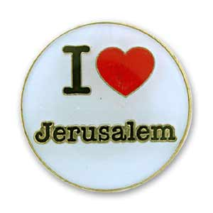 I Love Jerusalem Pin
