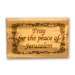 Pray for the Peace of Jerusalem Jewish Magnets