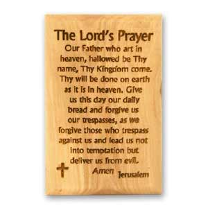 The Lord's Prayer Olive Wood Magnet
