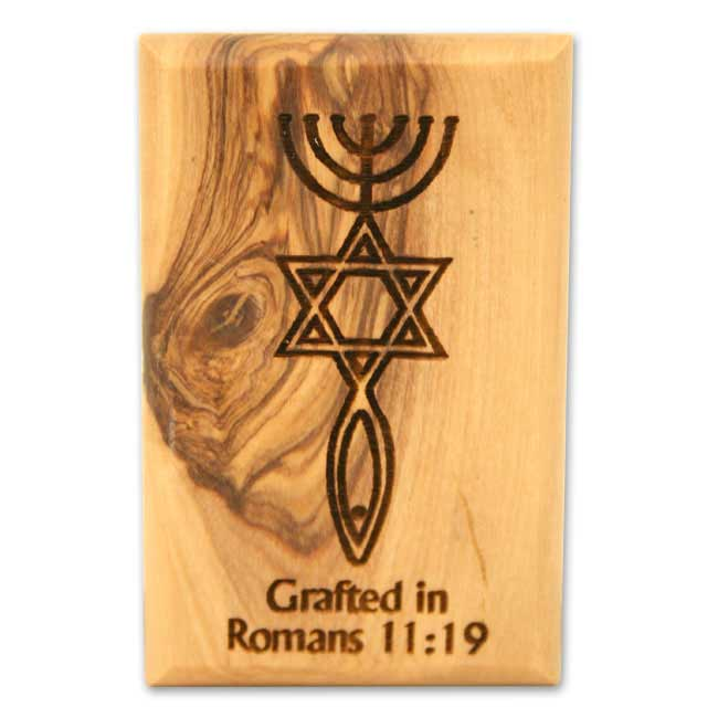 Decorative Magnet Grafted In Olive Wood Magnet