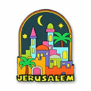 Jerusalem Night 3D Magnet