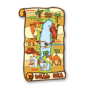 Dead Sea Map 3D Magnet