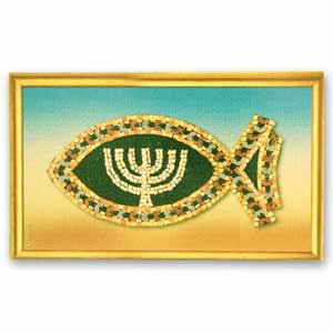 Fish and Menorah Magnet