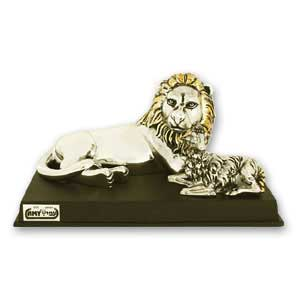 The Lion and the Lamb Silver Plated Mini-Figurine