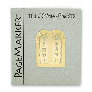 Ten Commandments Bookmark, 24k Gold Plated