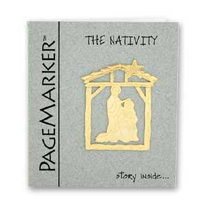 Nativity Bookmark, 24k Gold Plated