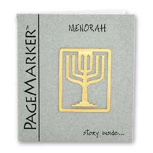 Menorah Bookmark, 24k Gold Plated