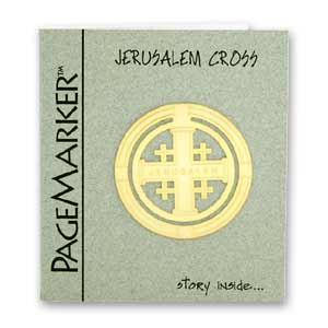 Jerusalem Cross Bookmark, 24k Gold Plated
