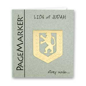 Lion of Judah Bookmark, 24k Gold Plated