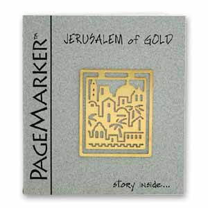 Jerusalem of Gold Bookmark, 24k Gold Plated