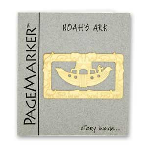 Noah's Ark Bookmark, 24k Gold Plated