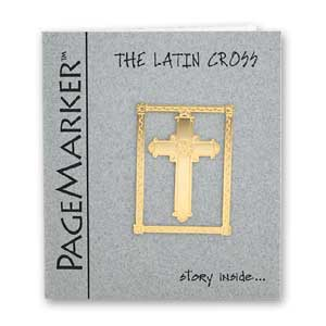 Latin Cross Bookmark, 24k Gold Plated