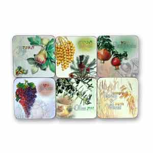 Seven Species Drink Coasters, Set of 6