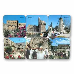 Jerusalem Drink Coasters, Set of 6