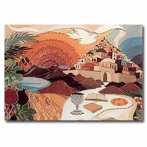 Bracha Lavee Print, Passover Table