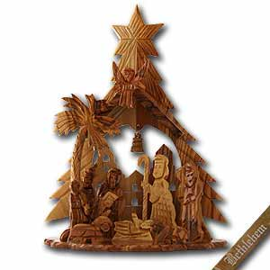 nativity christmas ornaments olive wood nativity scene large