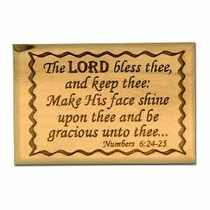 Aaronic Blessing Olive Wood Magnet.