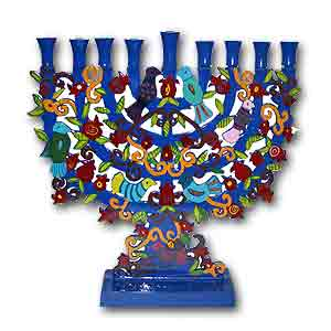Birds Hannukah Menorah by Yair Emanuel