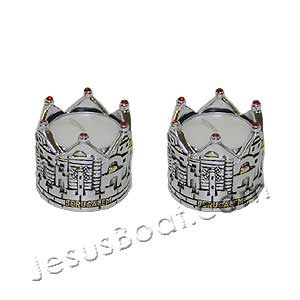 Jerusalem Crown Candle Holders