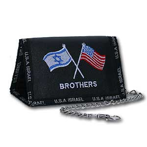 Tri-fold Wallet. USA and Israel Brothers Wallet.
