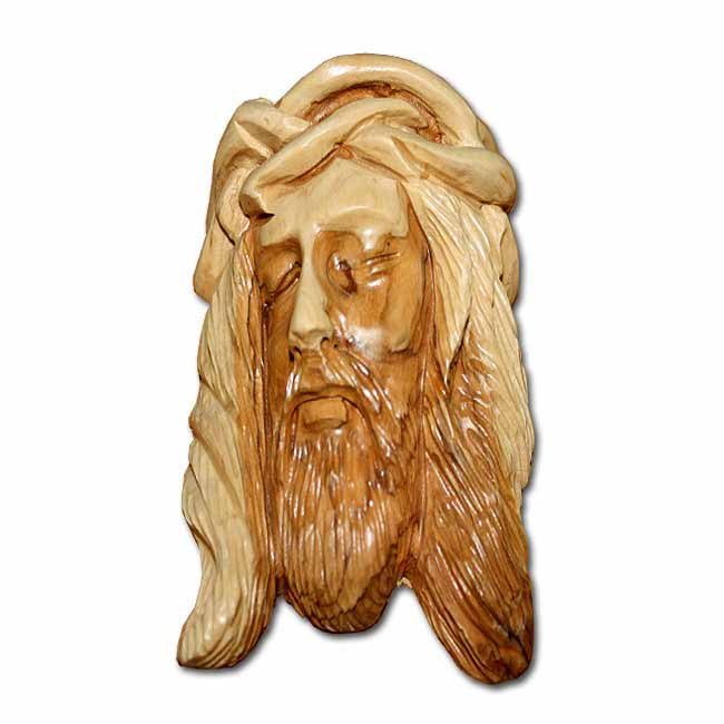 Olive wood carving of jesus