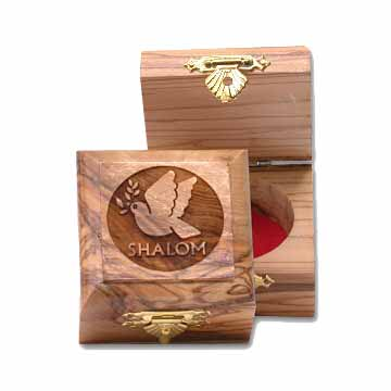 Dove of Peace Olive Wood Box
