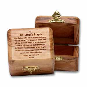 The Lord's Prayer Olive Wood Box