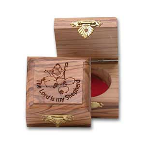 The Lord is My Shepherd Olive Wood Box