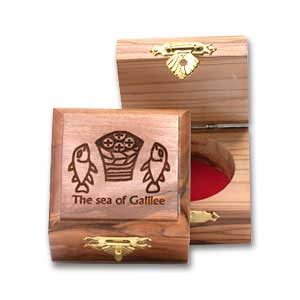 Carved Tabgha Olive Wooden Box