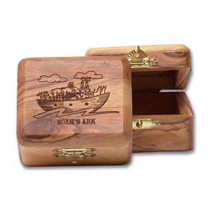 Noah's Ark Olive Wood Box