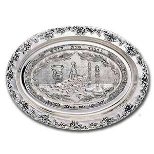 Challah Plate. Silver Plated.