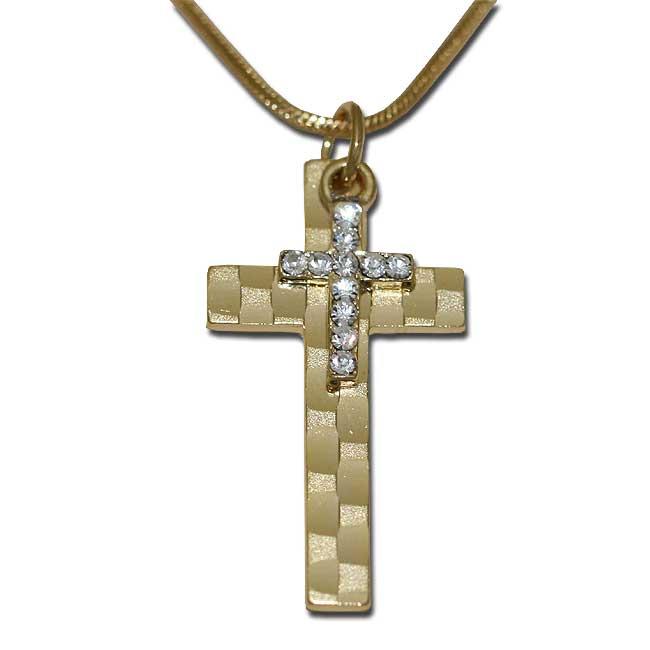 Religious jewelry cross pendants religious jewelry cross pendants golden cross and small cross with crystals aloadofball Image collections