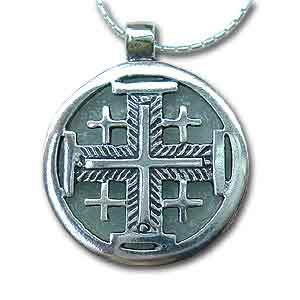 Jerusalem Cross Necklace by Michal Kirat