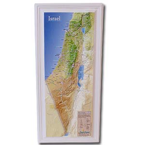 Relief map of Israel.