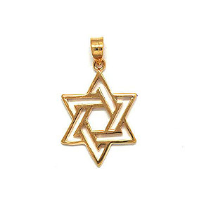 Intertwined Gold-Filled Star of David Pendant
