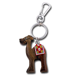 Cute Wood Camel Keychain