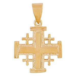 Gold-filled Elegant Jerusalem Cross Pendant