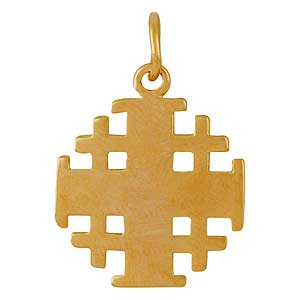 Gold-filled Simple Jerusalem Cross
