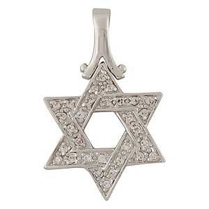 Gold-filled Star of David Pendant with Zircons