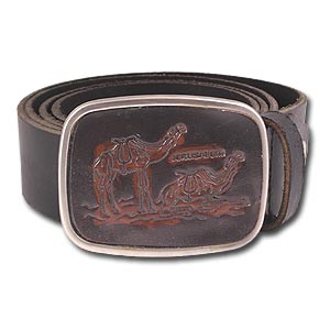 100% Genuine Leather Hand Made Belt, Camels