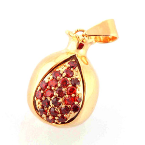 Pomegranate Gold Filled Pendant
