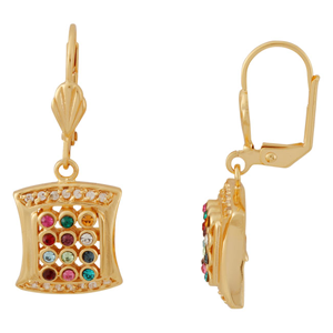 Gold filled Breastplate Earrings, elegant design