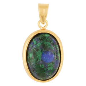Oval Eilat stone gold filled pendant