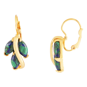 Gold filled earrings with Eilat stone