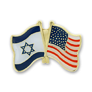 USA-Israel Flags Lapel Pin.