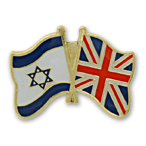United Kingdom-Israel Flags Lapel Pin.