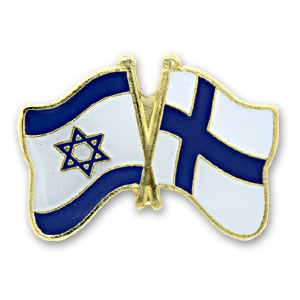Finland-Israel Flags Lapel Pin.