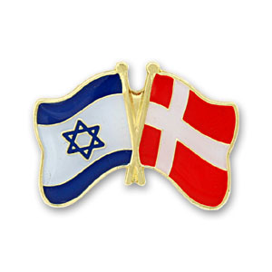 Denmark-Israel Flags Lapel Pin.
