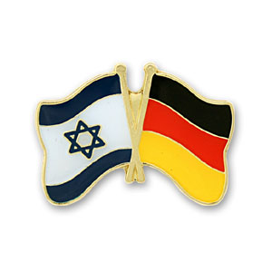 Germany-Israel Flags Lapel Pin.