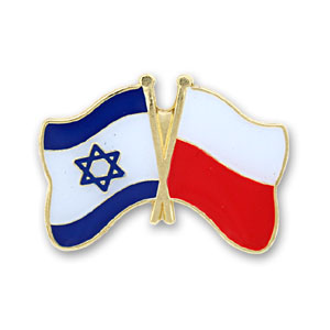 Poland-Israel Flags Lapel Pin.